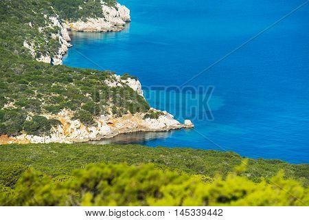 a rocky coast in Capo Caccia Italy