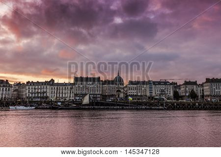 Sunset in Nantes. Nantes Pays de la Loire France