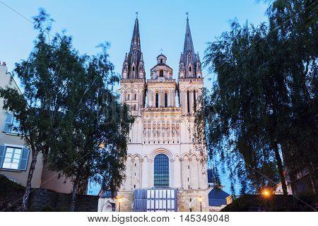 Angers Cathedral. Angers Pays de la Loire France.