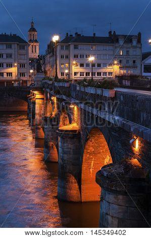 Pont de Verdun in Angers. Angers Pays de la Loire France
