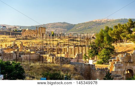 The Roman city of Gerasa - Jerash, Jordan