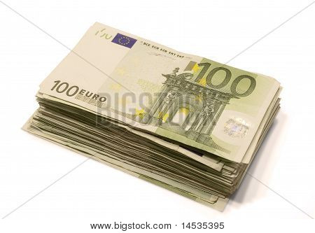 Stack Of Euro Bill