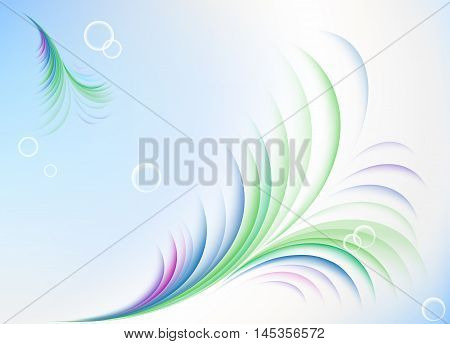 Abstract summer background with fuzz, greeting card, invitation