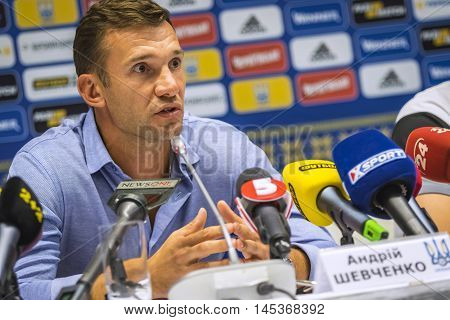 Press-conference Of Head Coach Of Ukraine National Football Team