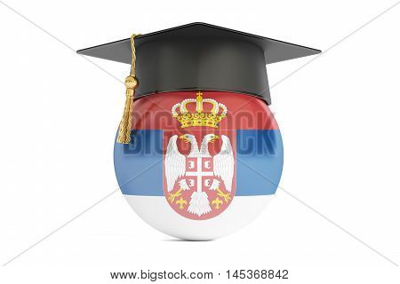 education in Serbia concept 3D rendering isolated on white background