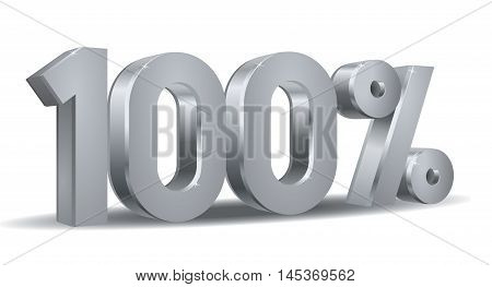 Vector of 100 percent in white background