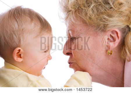 Baby Getting A Kiss
