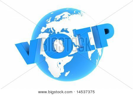 Voip Around The World - Glossy Blue