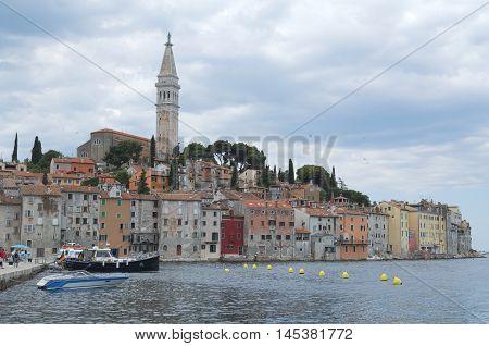 City Rovinj Rovigno in Istria Croatia from the Port