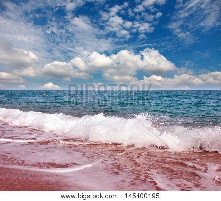 beautiful sandy beach of the Mediterranean coast of Spain