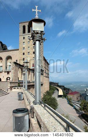 temple on the mountain of Montserrat Spain