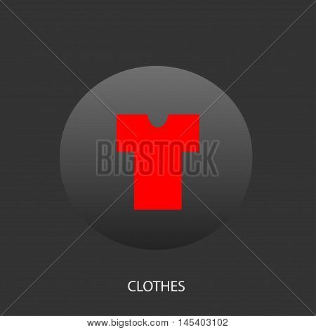Illustration on which the undershirt icon against a dark background is represented