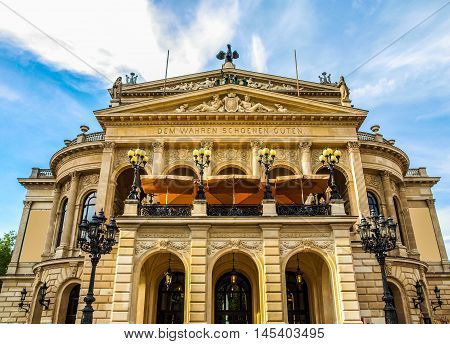 Alte Oper In Frankfurt Hdr