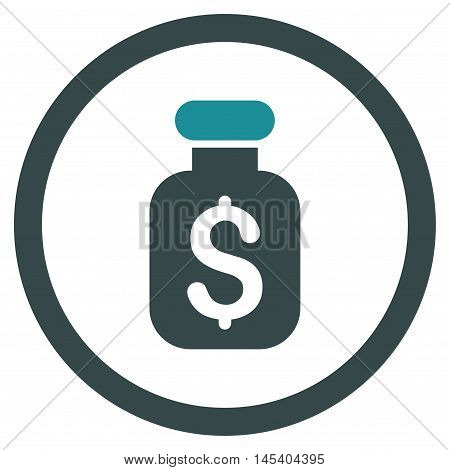 Business Remedy rounded icon. Vector illustration style is flat iconic bicolor symbol, soft blue colors, white background.