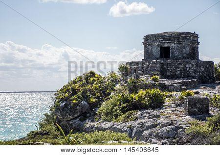 Mexico yucatan Tulum maya ruins Temple Oceanside 3