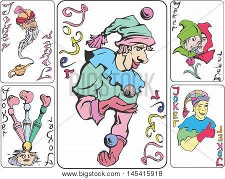 Set Of Playing Joker Cards