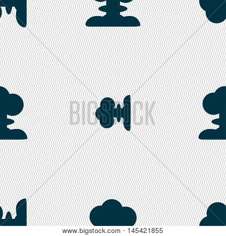 Explosion Icon Sign. Seamless Pattern With Geometric Texture. Vector