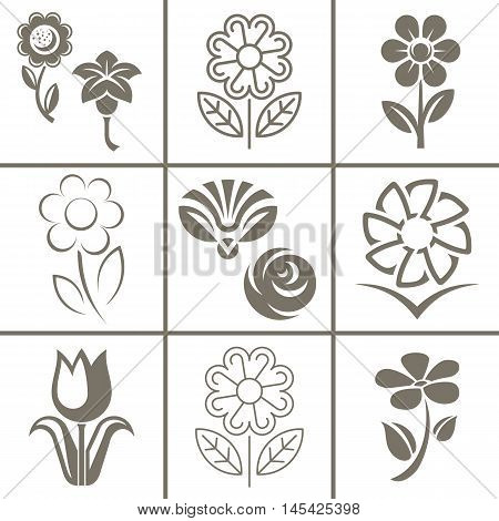 Flower icon icon and signs vector illustration