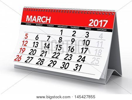 March 2017 Calendar