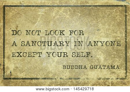 Sanctuary In Yourself Buddha