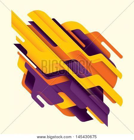 Abstract style technology illustration. Vector illustration.