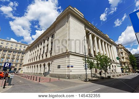 WARSAW POLAND - JUNE 11: National Philharmonic Building was built in the years 1900-1901 ceremoniously opened November 5 1901 rebuilt in 1955