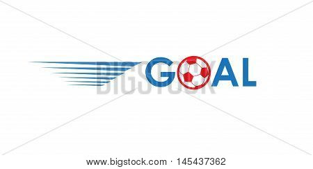 Goal. Soccer goal icon. Goal football icon. Champion Soccer Goal background. Europa 2016 Abstract soccer goal illustration in blue and red color. 2016 Football vector. For Art, Print, Web design. World championship soccer.