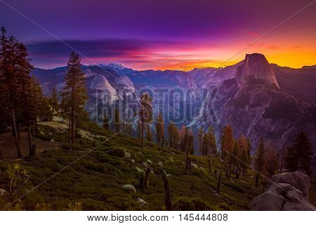 Yosemite National Park Sunrise Glacier Point