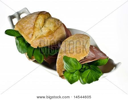 Bread Rolls With Mortadella
