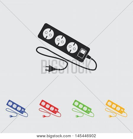 extension cord  vector icon for web and mobile