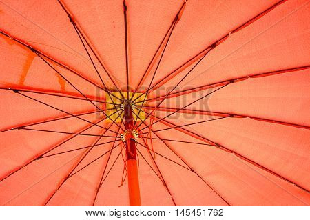 The big red umbrella, big umbrella Texture ,rod umbrella