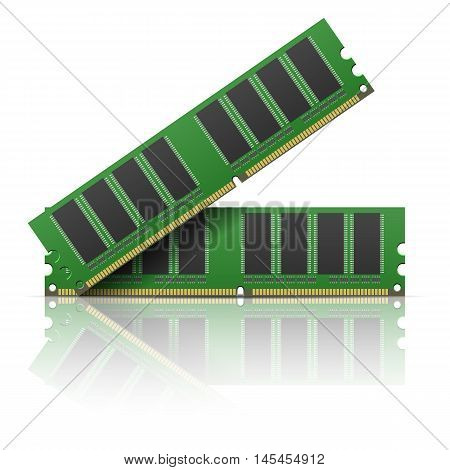 Computer memory on a white background. Vector illustration.