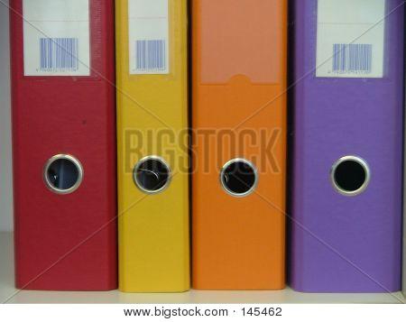 Carpetas de archivo colorido
