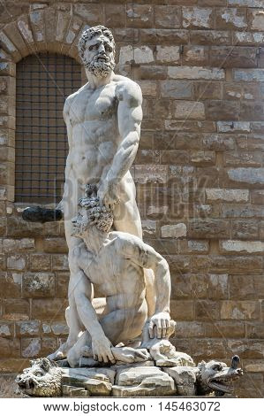 Hercules And Cacus Sculpture In Florence, Italy.
