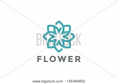 Flower Logo design infinite vector Jewelry Fashion Luxury icon