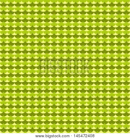 Green ginkgo biloba leaves seamless pattern. Background seamless graphic and abstract vector illustration