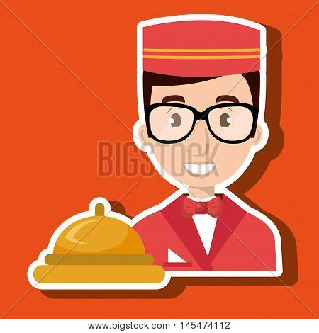 bellman bellhop hotel vector illustratio eps 10