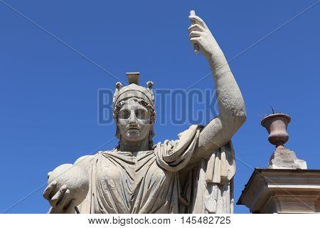 Statue of the goddess Rome at the Villa Medici
