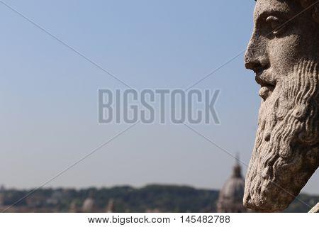 Statue of the villa Medici in Rome