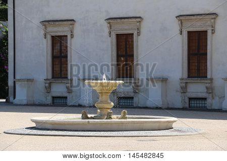 Fountain of the villa Medici in Rome