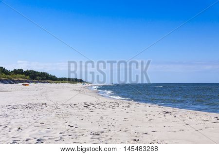 Sandy Beach On Hel Peninsula, Baltic Sea, Poland