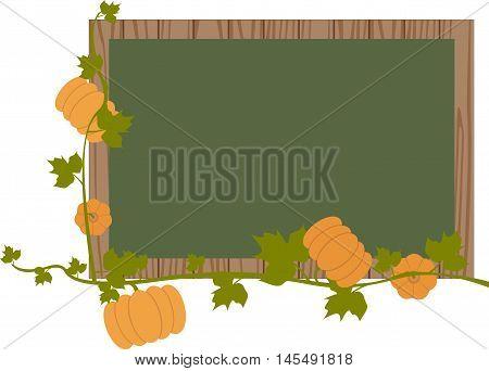 pumpkins fall autumn blackboard stalk leaves maple