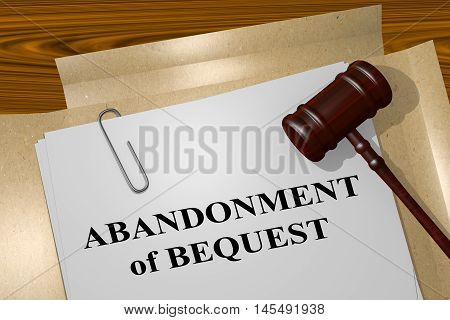 Abandonment Of Bequest Concept