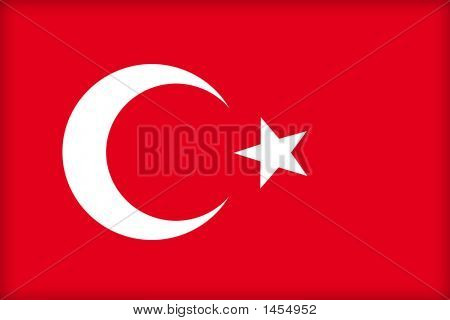 The flag of Turkey. (Original and official proportions). poster