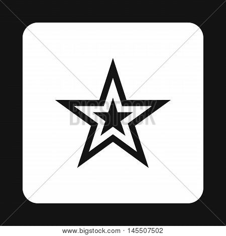 Celestial figure star icon in simple style isolated on white background. Figure symbol