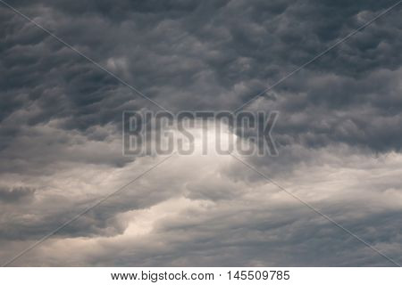 Image of the dark clouds before rain
