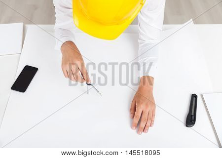 Engineer With Compass