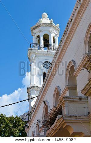 View of Calle El Conde, Count street. Santo Domingo, Dominican Republic.