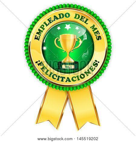 Empleado del Mes. Felicitaciones! (Employee of the Month in Spanish language) - award ribbon