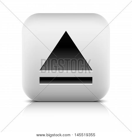 Media Player Icon With Eject Sign.
